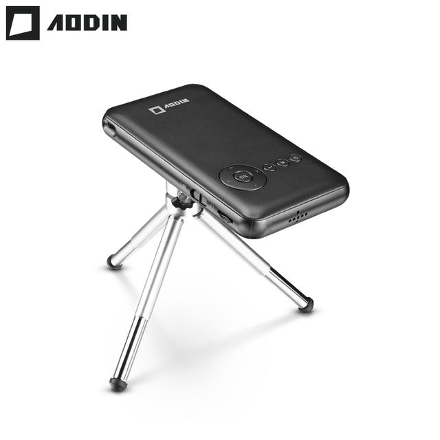 Best Promo AODIN M6S 32G Smart DLP Mini Projector WIFI LED Portable Projector HD Home Theater Android Pocket Projector HDMI IN Smartphone