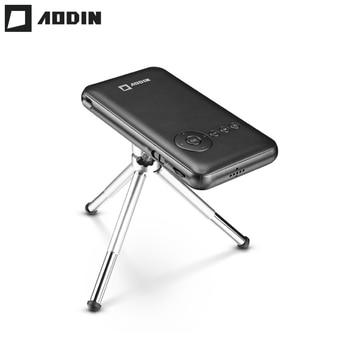AODIN M6S 32g Inteligente Mini Projetor DLP WIFI Projetor Portátil LED HD Home Theater Android Projetor de Bolso HDMI EM smartphones