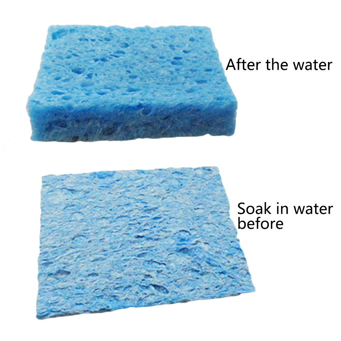 Hand Tool 5pcs/lot 6cm*6cm Soldering Iron Solder Tip Welding Cleaning Sponge Pads Blue And Yellow Color Random
