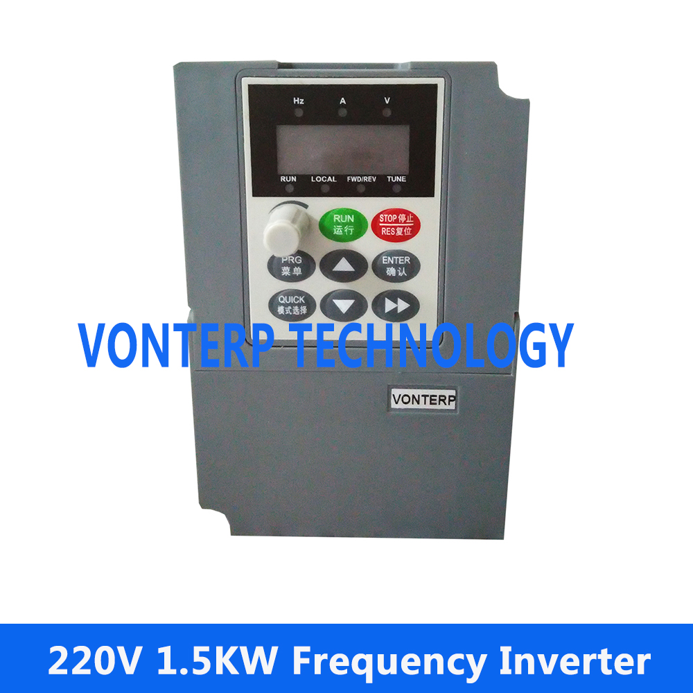 mini size AC drive, variable frequency converter, VFD, frequency inverter 1.5KW 220V Single phase input and 220v 3 phase output baileigh wl 1840vs heavy duty variable speed wood turning lathe single phase 220v 0 to 3200 rpm inverter driven