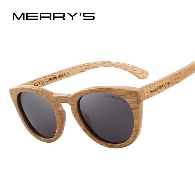 MERRY'S DESIGN HAND MADE Wooden Sunglasses Men/Women Retro Polarized Sun Glasses 100% UV Protection S'5268