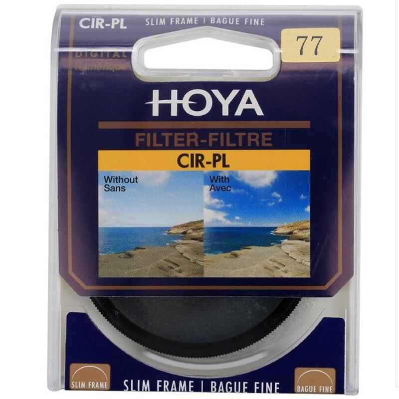 Hoya 77mm filtro polarizador CPL para Nikon Canon DSLR Objetivos para cámaras