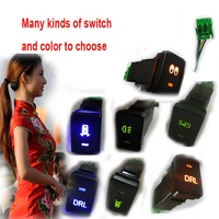 Free Shipping NEW Car Gps Recorder Parking Sensor Fog Light Drl Switch Button For TOYOTA Highlander