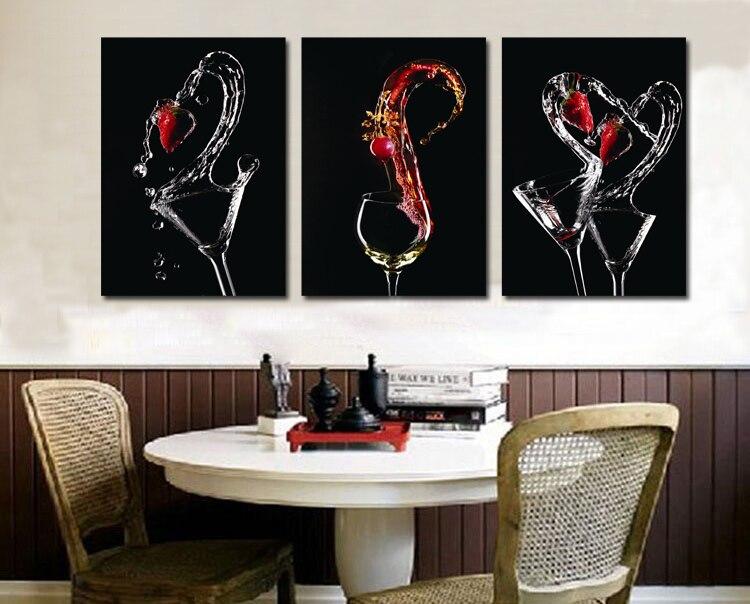 3 paneles nuevas copas de vino estampado de cuadros para for Cuadros cocina decoracion