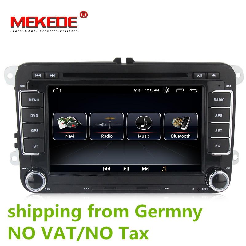 Android 8.0 Auto DVD GPS Navigation 1024*600 Quad Core für VW Volkswagen Skoda POLO GOLF 5 6 PASSAT JETTA TIGUAN TOURAN Caddy
