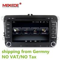 Android 8.0 Car DVD GPS Navigation 1024*600 Quad Core for VW Volkswagen Skoda POLO GOLF 5 6 PASSAT JETTA TIGUAN TOURAN Caddy