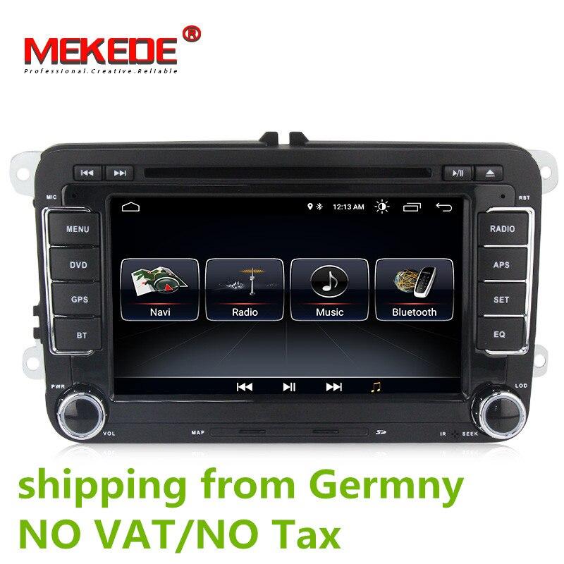 Android 8.0 DVD Do Carro de Navegação GPS 1024*600 Quad Core para Volkswagen VW Skoda POLO GOLF 5 6 PASSAT JETTA TIGUAN TOURAN Caddy