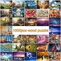1000 pcs de madeira quebra-cabeças para adultos puzzle de madeira DIY 3D puzzle brinquedos educativos para crianças kid presente
