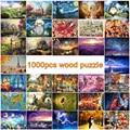 1000 pz puzzle di legno per adulti in legno FAI DA TE puzzle educational 3D puzzle giocattoli per bambini kid regalo