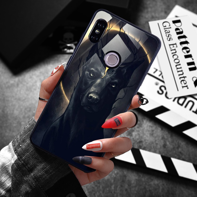 note 5 phone cases Tempered Glass Case For Xiaomi Redmi Note 5 5 Pro 5 Plus Note 4X Case Luxury Animal Pattern Case For Xiaomi Mi 8 A1 5X Coque (3)