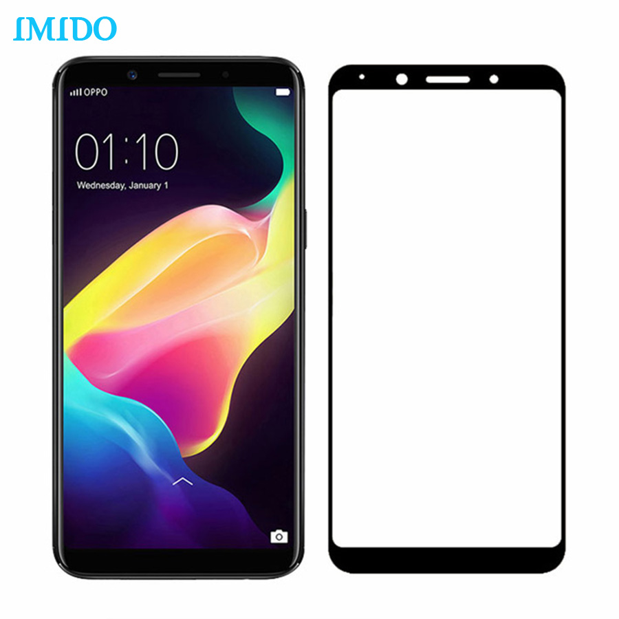 IMIDO Tempered Glass For OPPO F5 9H Full Cover Protective film 0.26mm Explosion-proof Screen Protector For OPPO F5 Glass