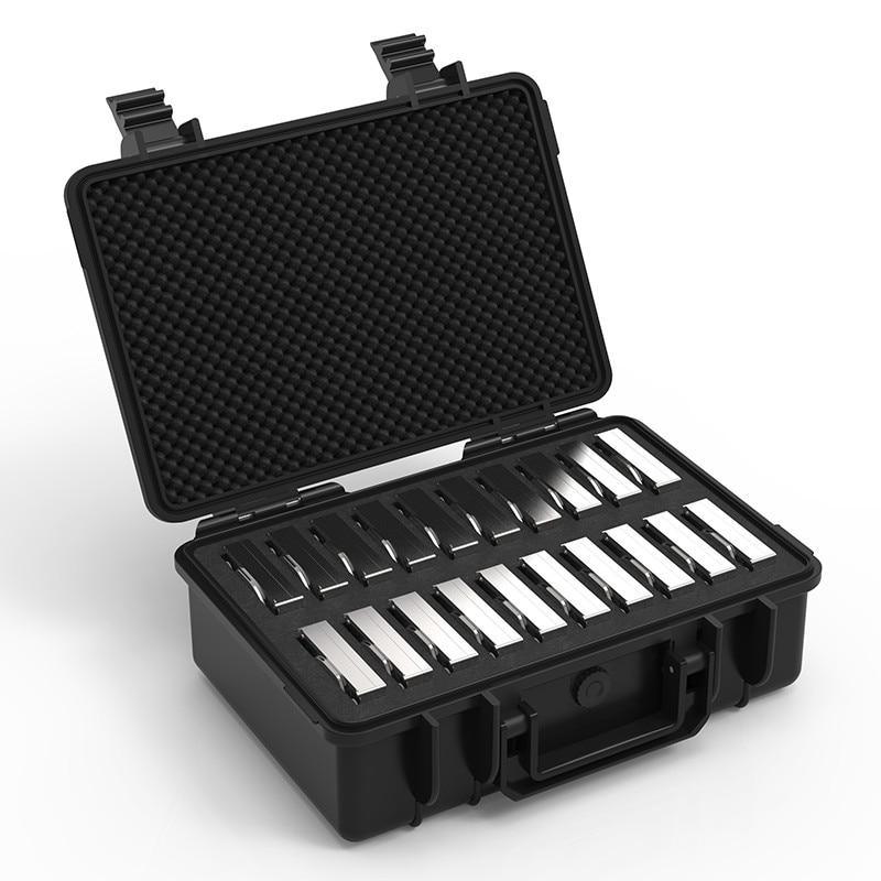 ORICO 20 bay 3.5 pouces Disque Dur Protection Cas imperméable à L'eau + anti-Choc + anti-Poussière fonction verrou de sécurité et Snap Conception - 3