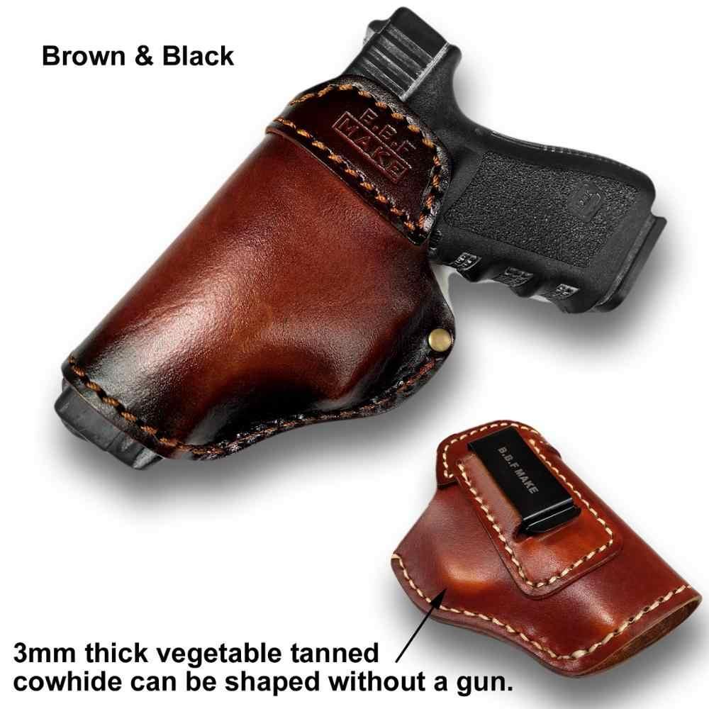 B.B.F MAKE بندقية الحافظة حقيبة جلدية ل S & W M & P درع-غلوك 17 19 22 23 26 27 32 33 42 43/سبرينغفيلد XD و XDS IWB الحافظات
