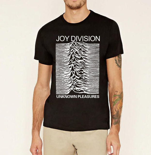 2017 summer Joy Division Unknown Pleasure men's t shirt Post Punk ...