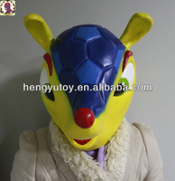 2018 Most Popular Cute Fuleco Animal Face Rubber Mask Fancy Dress Accessory Halloween Party