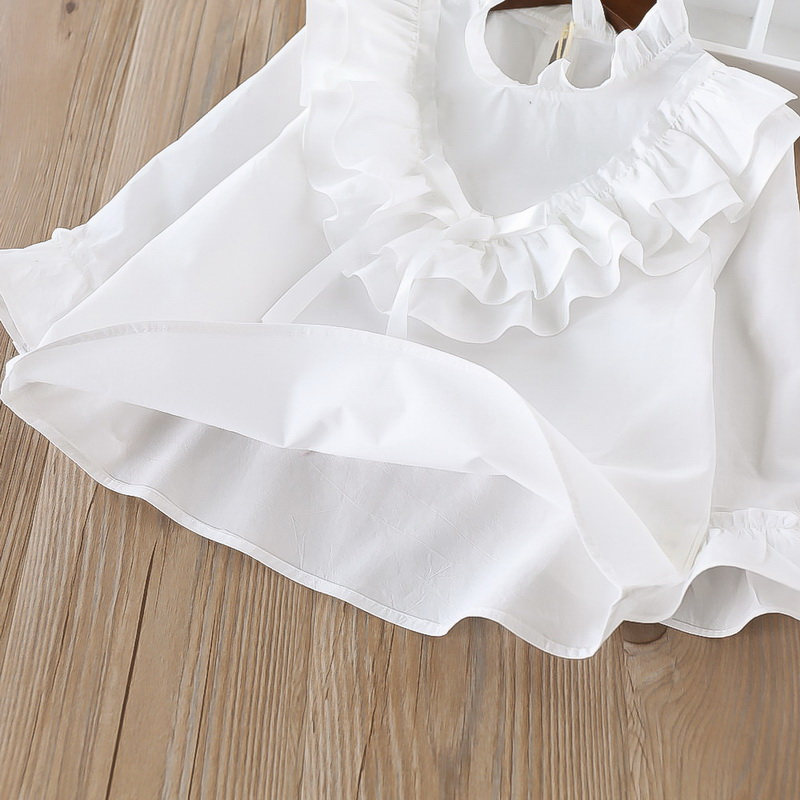 45-8-baby girl ruffles Solid blouses