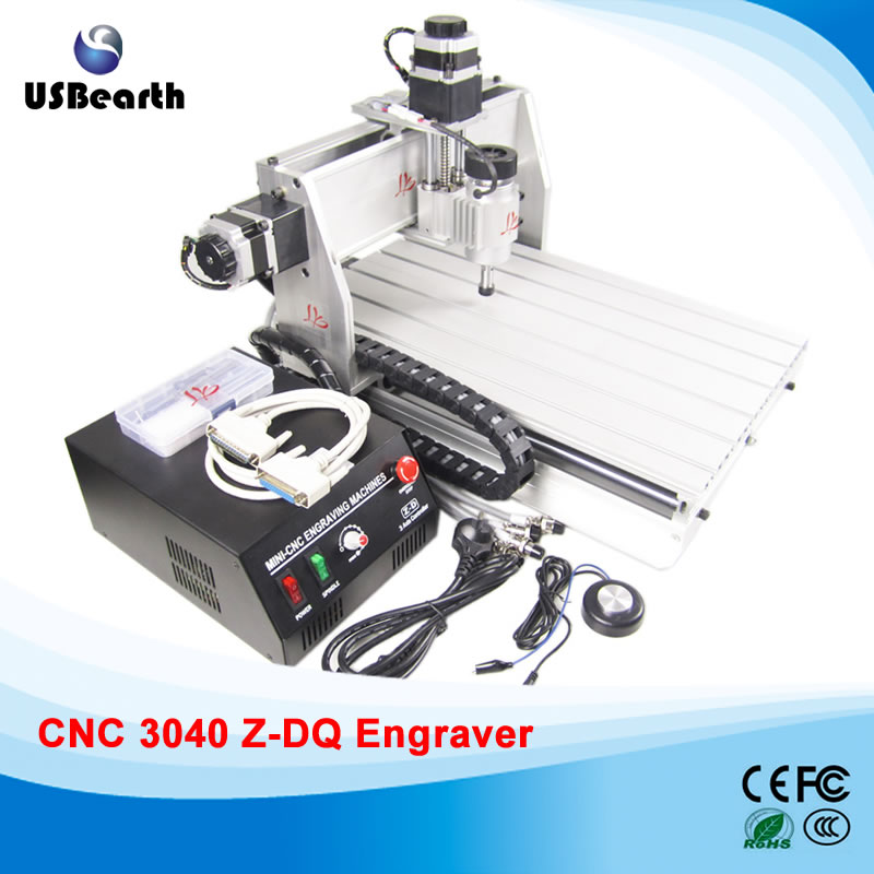 3 axis cnc router 3040 Z-DQ,  Ball Screw type, CNC engraving machine for cutting woods plastic, PCB etc. Free tax to Russia 2 2kw 3 axis cnc router 6040 z vfd cnc milling machine with ball screw for wood stone aluminum bronze pcb russia free tax