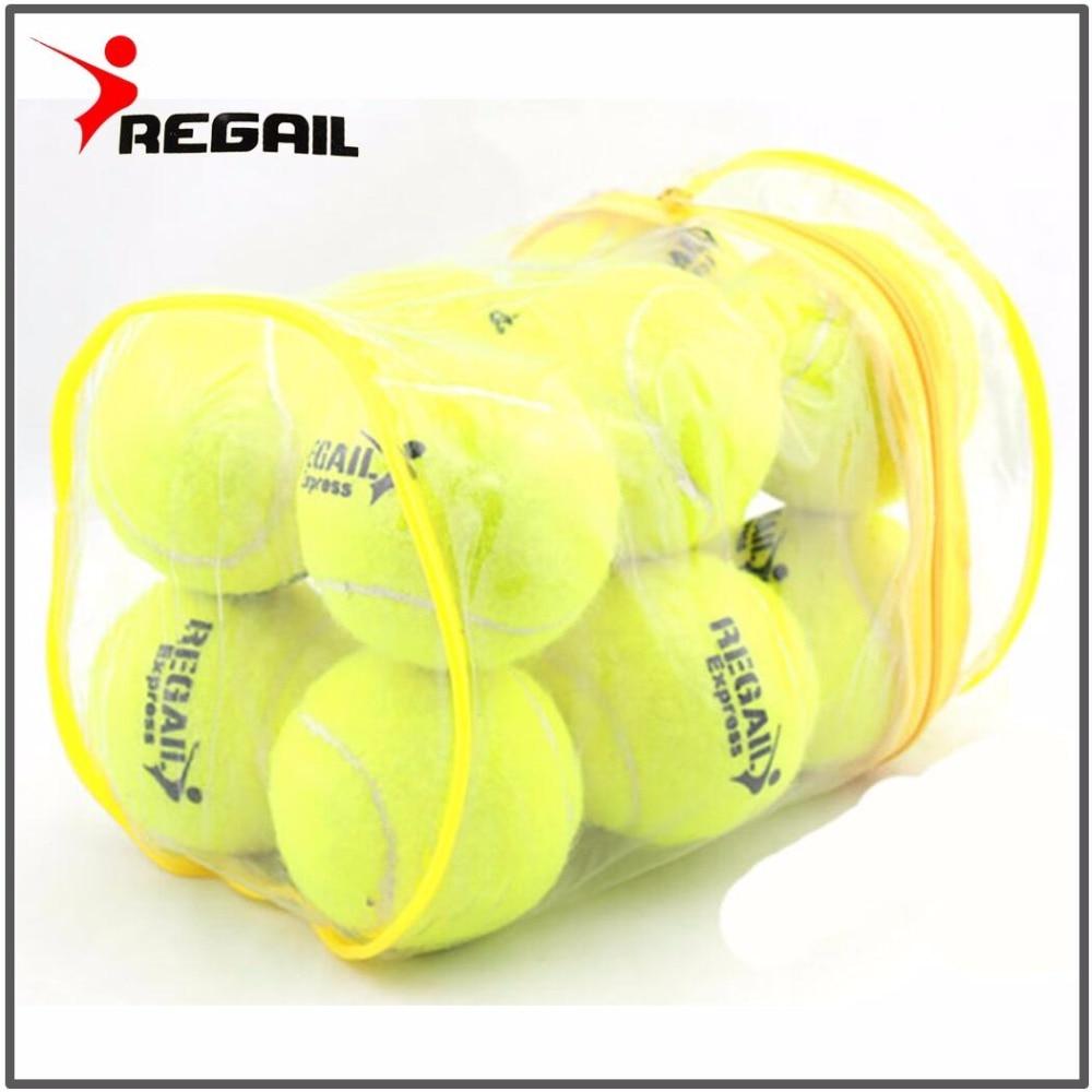12 шт./лот Высокое качество Эластичность теннисный мяч для тренировок спортивные резиновые шерстяные теннисные мячи для тенниса с бесплатны... ...