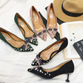 Designer luxury Brand Suede women shoes high heel wedding shoes Rhinestones dragonfly dresses for women evening shoes