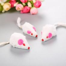Cat Toy Fur Mouse Short Hair Real Hair Mouse with Ring Stone Cat Toy Pet Supplies все цены