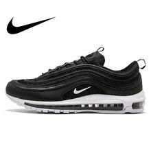new concept a4c9b 48212 Original oficial Nike Air Max 97 hombres transpirable zapatos zapatillas de  tenis de deportes de los