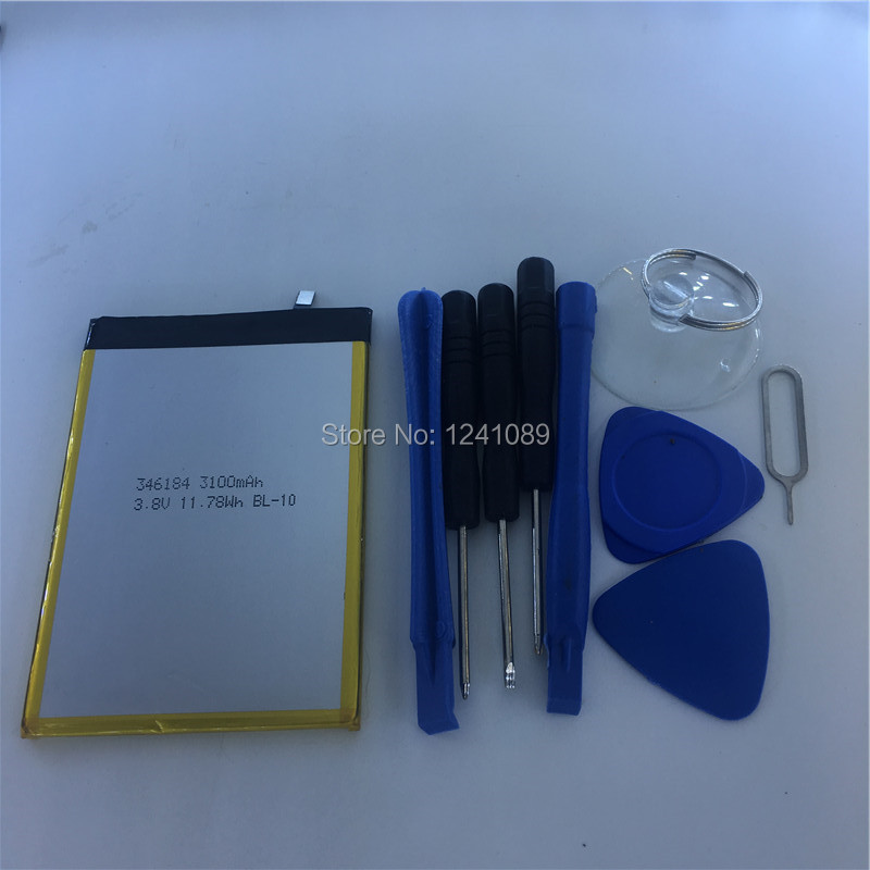 100% original battery THL Knight 1 battery 3100mAh Original quality 5.5inch MTK6750T +disassemble tool Long standby time
