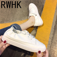 RWHK Comfortable white shoes female 2019 tide summer new Korean version of the wild breathable flat women B343