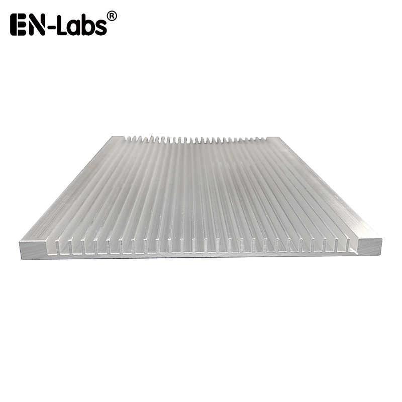 150mm x 90mm x 15mm Aluminium Radiator Heatsink Fin for Chipset Power IC LED Cooling Black