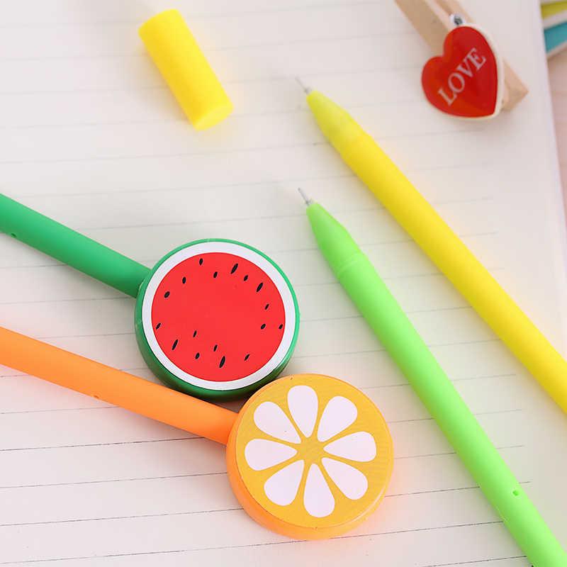 1 Uds creativo dibujo fruta bolígrafo premio de estudiante bolígrafo de Gel pluma de firma suministros para oficina y Escuela bonitos suministros escolares