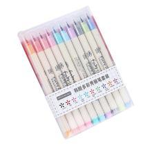 10 шт./лот, кисть для письма, ручка, цветные маркеры, набор для каллиграфии, подарок для рисования, корейские канцелярские товары для рукоделия