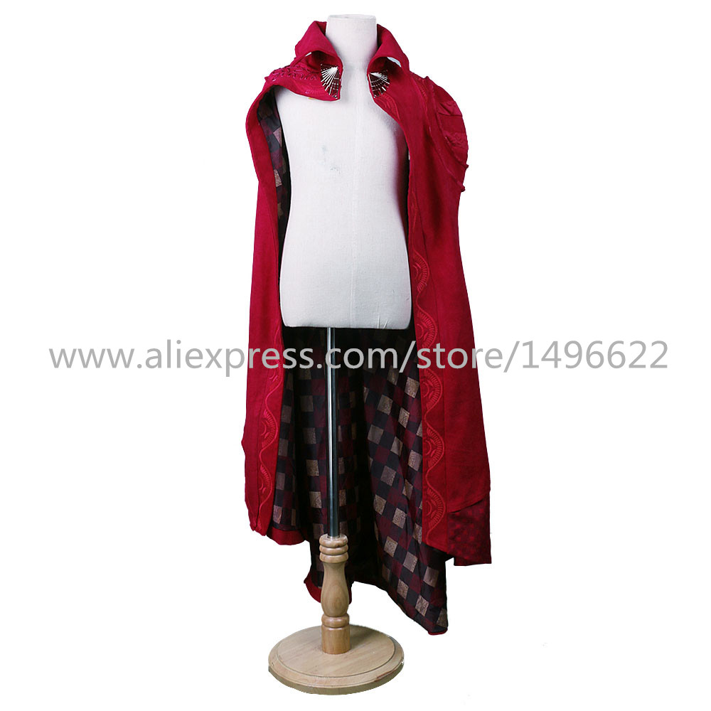 Cos Marvel Movie Doctor Strange Costume Cosplay Steve Red Cloak Kids Costume Robe Halloween Costume Party (2)