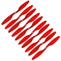RC plane 5 Pairs 1045 10x4 Cw Ccw Propeller Prop for Rc Multi Quadcopter F450 Red