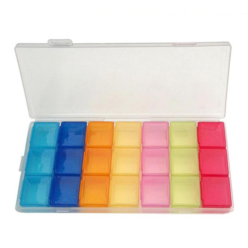 Box Case Organizer Week Storage Holder Case For Medicine Drug Pill Case