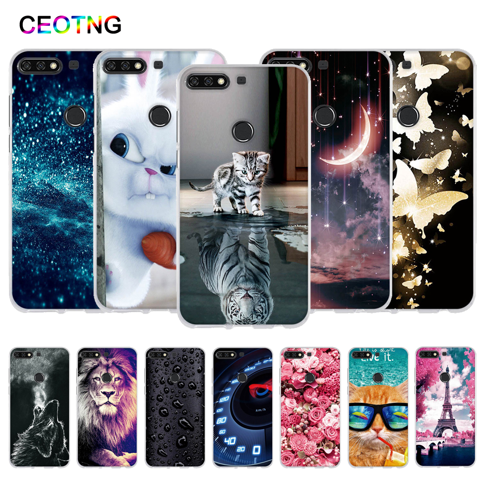 TPU <font><b>Case</b></font> for <font><b>Huawei</b></font> <font><b>Y7</b></font> Prime <font><b>2018</b></font> <font><b>Case</b></font> Painted <font><b>Silicone</b></font> Cover for <font><b>Huawei</b></font> <font><b>Y7</b></font> <font><b>2018</b></font> Funda for <font><b>huawei</b></font> <font><b>Y7</b></font> Pro <font><b>2018</b></font> Phone <font><b>Cases</b></font> image