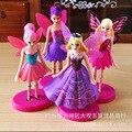 4 unids/set Niños mi lindo TINKER BELLS Set Juguete de Acción poni muñecas para niños fiestas de cumpleaños pequeño regalo juguetes de vinilo muñeca