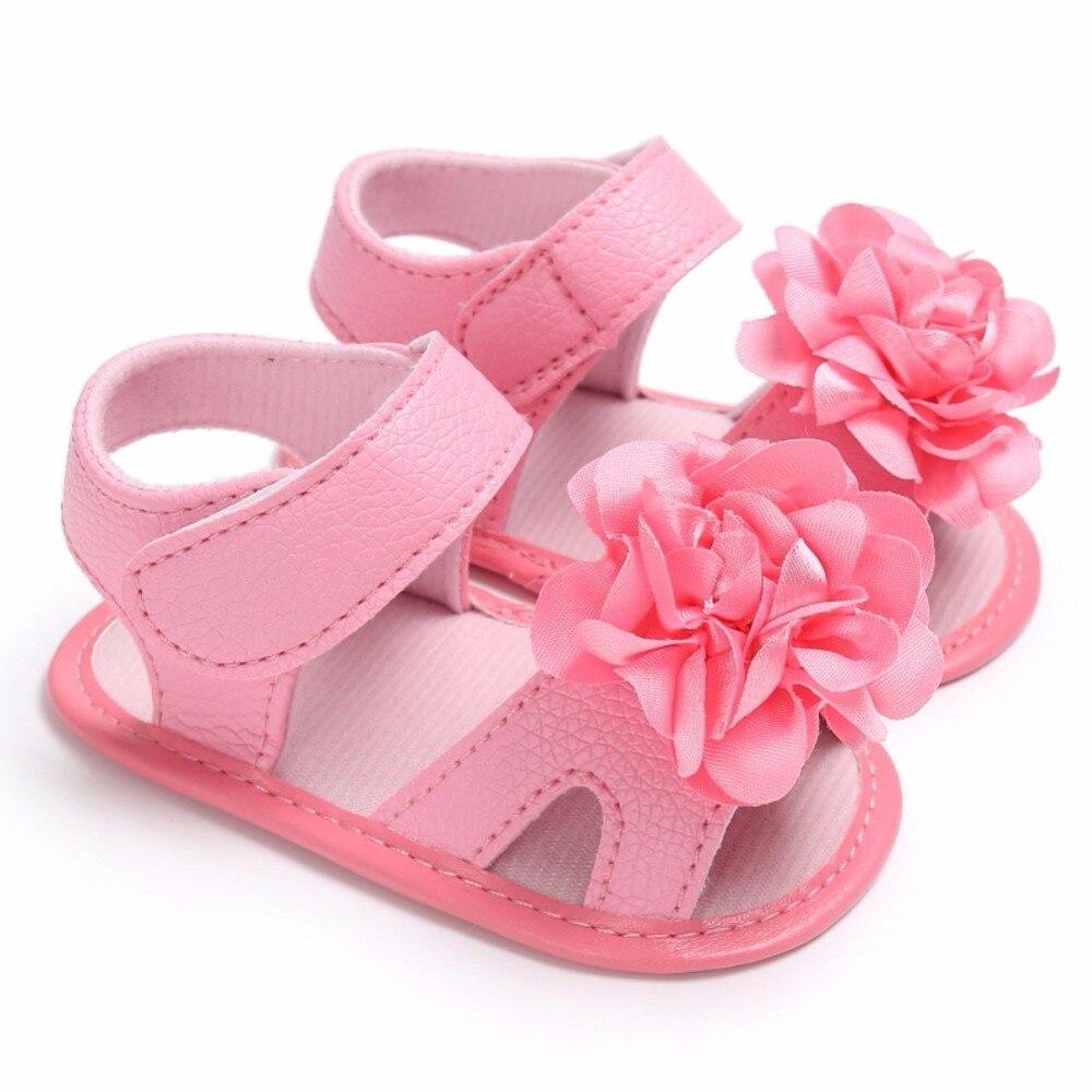 0-18 M Säuglings Kleinkind Weiche Sohlen Schuhe Neugeborenen Baby Mädchen Blume Pre-wanderer Krippe Bebe Prinzessin Erste Wanderer 2017 Sommer