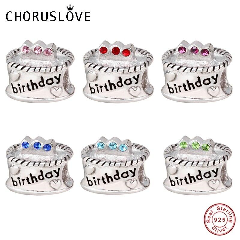 Miraculous Choruslove Birthday Cake Charm 925 Sterling Silver Birthstones Birthday Cards Printable Opercafe Filternl