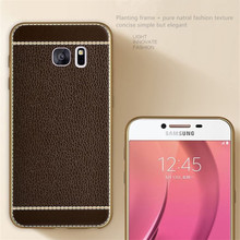 Soft Litchi Silicone Cases for Samsung Galaxy S7 S6 edge S8 Case for Samsung Galaxy A3 A5 A7 2017 J3 J5 J7 2016 J5 Prime Case