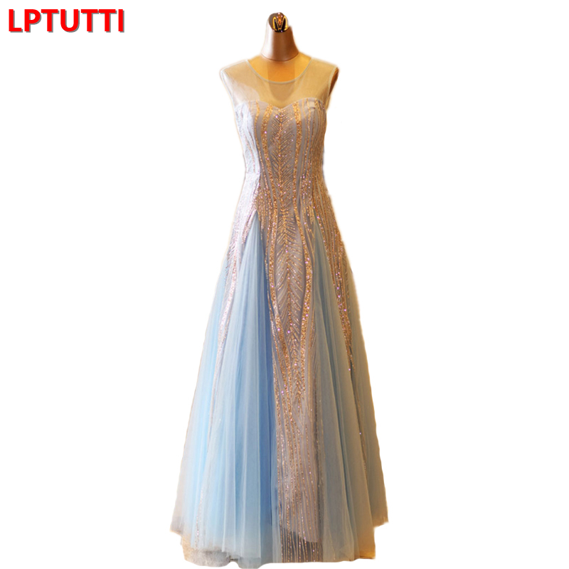 LPTUTTI New For Women Elegant Date Ceremony Party Prom Gown Formal Gala Events Luxury Long   Evening     Dress
