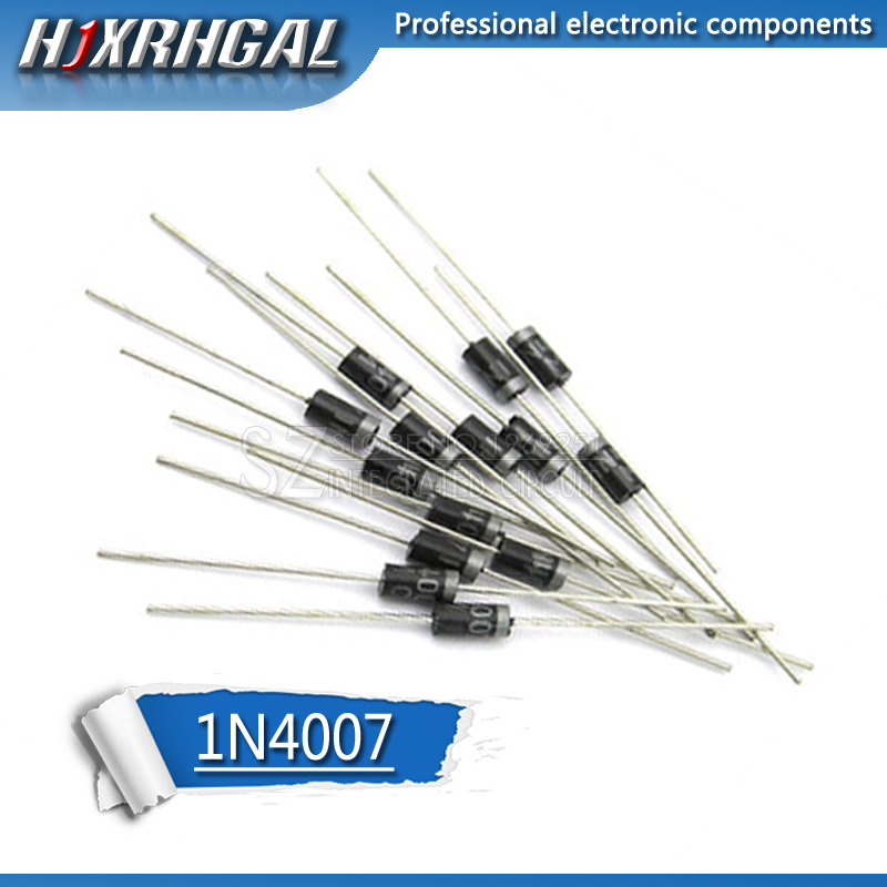 100PCS 1N4007 <font><b>4007</b></font> 1A 1000V DO-41 High quality Rectifier Diode IN4007 hjxrhgal image