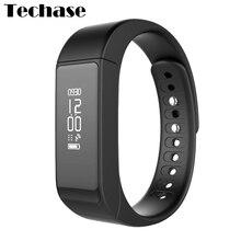 Techase i5 плюс Смарт-часы Bluetooth SmartBand Спорт фитнес трекер Водонепроницаемый браслет шагомер Сенсорный экран Sleep Monitor
