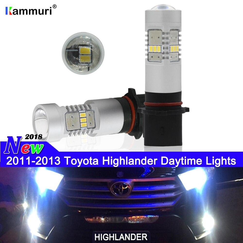 Xenon Halogen Fog Lights For 2014-2016 Toyota Highlander Kluger XU50 pair