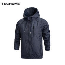 2017 Spring New Men Brand Clothing Sportswear Men Fashion Thin Windbreaker Jacket Zipper Coats Outwear Hooded Men Jacket L-4XL