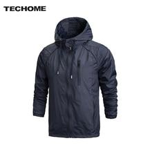 2017 Spring New Men Brand Clothing Sportswear Men Fashion Thin Windbreaker Jacket Zipper Coats Outwear Hooded Men Jacket L-4XL