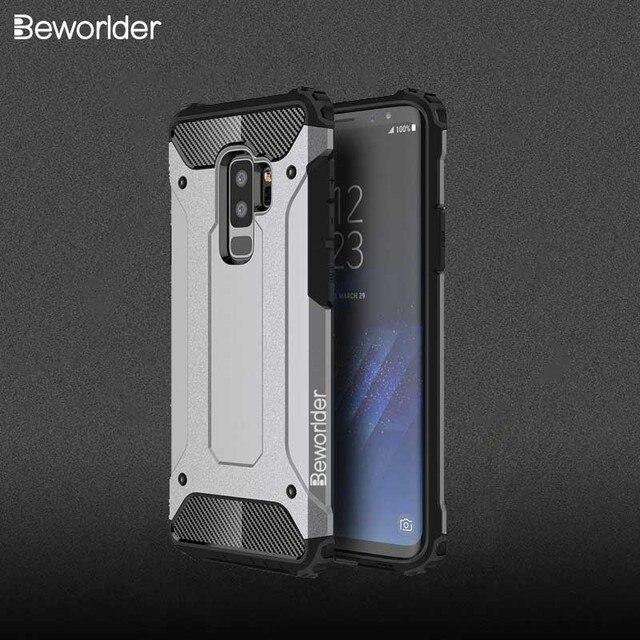 Beworlder لسامسونج غالاكسي s9 plus حالة درع TPU + PC الحرارة تبديد لينة غطاء سيليكون اغلفة السامسونج S9Plus