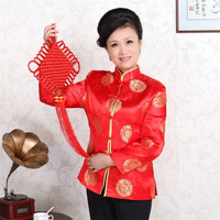Shanghai Story new arrival Traditional Chinese Women's satin silk Embroider Jacket Coat Flowers Size S 3XL 5 color J0058