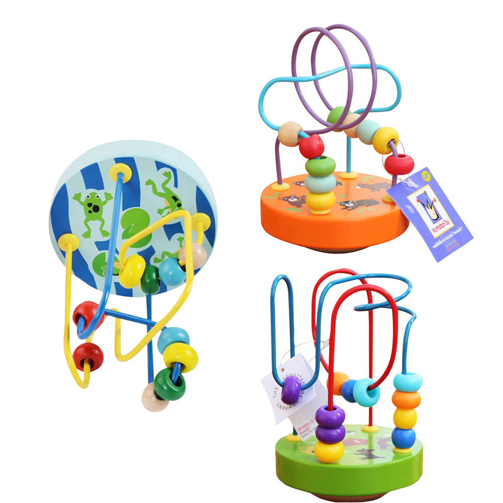 New Wooden Elephant Bead Maze Baby Kids Children Bead Roller Coaster Maze Puzzle Toy Child early