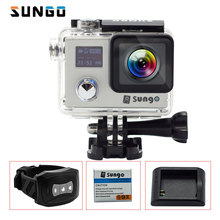 SUNGO Action Camera 4K 24fps remote WiFi Full HD 1080P screen 2.0″LCD  170wide 30m waterproof 20MP Mini sports camera Helmet Cam