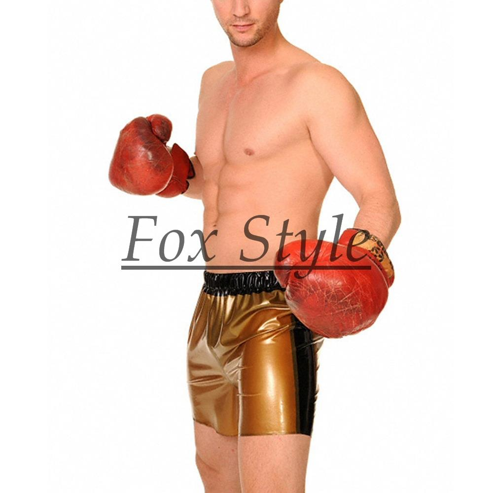 Latex boxer shorts for men