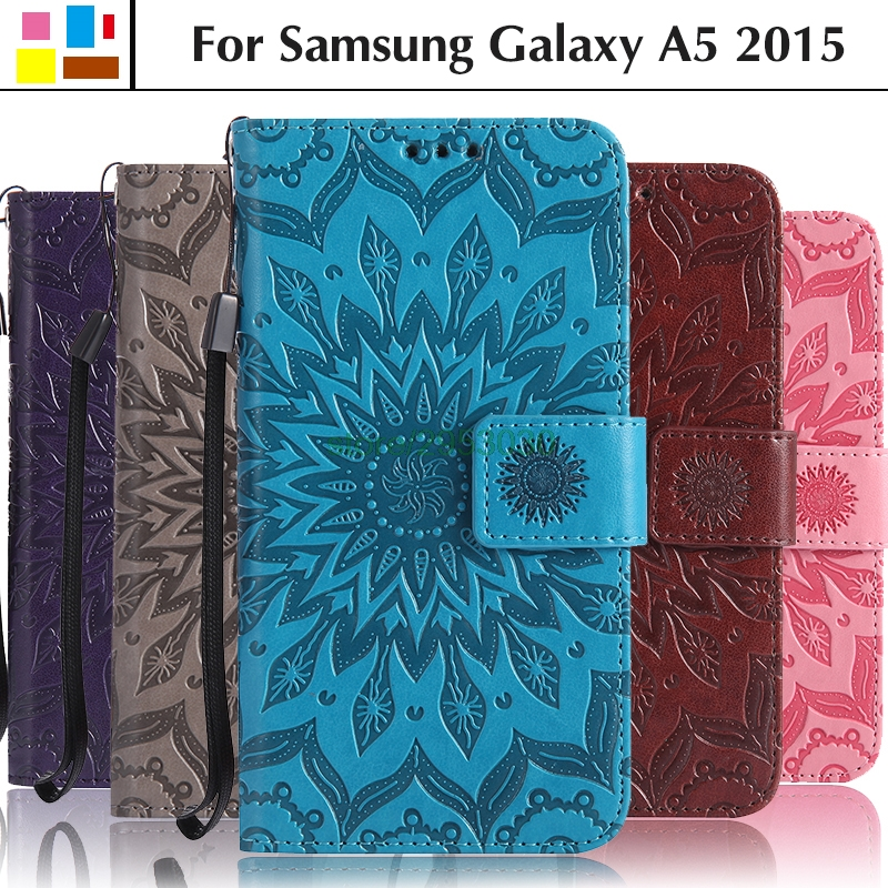 Phone Case for <font><b>Samsung</b></font> Galaxy A5 2015 A500 A500H <font><b>A500FU</b></font> A500F SM-A500 SM-A500H SM-A500F SM-<font><b>A500FU</b></font> Leather Flip Cover Coque Bags image